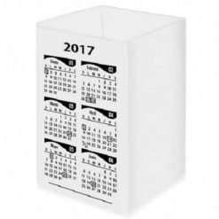 Cubo Porta Lápiz con Calendario